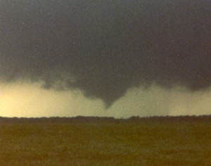 Weak tornado near Concho, OK.