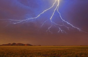 """Lightning over the Wichitas"""
