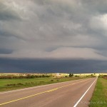 Looking south southeast from 2.2 miles north of Cloud Chief, OK (6:35 pm CDT)