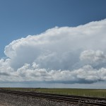 Looking west southwest from 4.6 miles northeast of Fargo, OK (2:46 pm CDT)