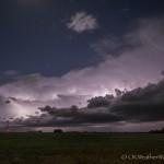 Looking west from 3.7 miles east northeast of Pretty Prairie, KS (9:48 pm CDT)