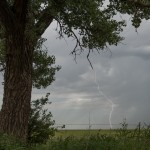 Looking north from 4.0 miles south of Wakita, OK (Map stop 2) (3:45 pm CDT)