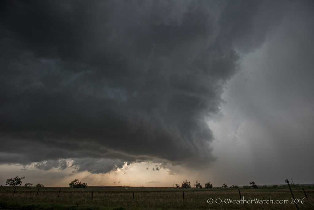 Looking west from 5.5 miles south of Alanreed, TX (7:48 pm CDT)